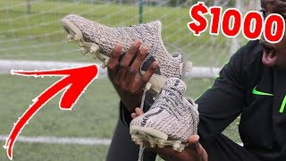 LOSING my $1000 YEEZY 350 FOOTBALL BOOTS!! - is it REALLY worth it?? 😭