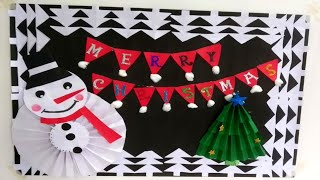Christmas Decoration Notice Board// Christmas Display Board Idea