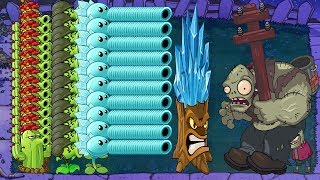 Zombies Gameplay - Team Pea vs 99999 Gargantuar - Plants vs