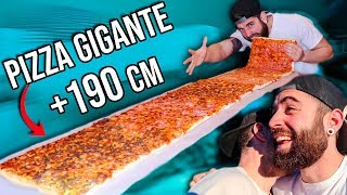 LA PIZZA GIGANTE DE 1,90 METROS QUE CASI ACABA CONMIGO *no esperaba acabar asi*