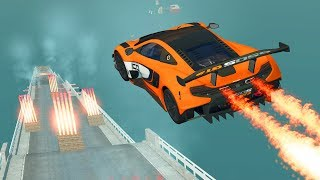 BeamNG Drive High Speed Open Bridge Jumps #6