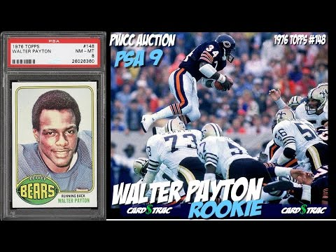 1976 Walter Payton rookie card Topps#77  for sale; graded PSA 9. PWCC Auctions