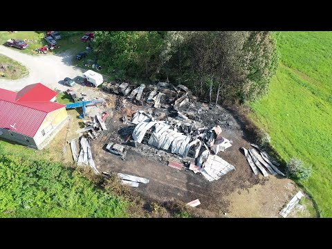 Drone footage of the home where four were found dead