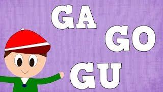 Sílabas GA GO GU   -  Syllable With G - Aprender A Leer Y Escribir -  Vídeos Para Niños