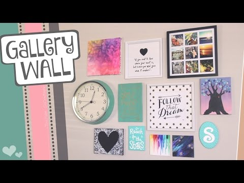 How to hang a GALLERY WALL // Easy picture hanging tips for wall art   SoCraftastic