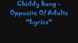 Chiddy bang - Oppisite Of Adults WiTh Lyrics
