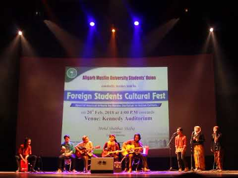 Indonesia Student Sing traditional song in Internatonal Fest | Aligarh Muslim University