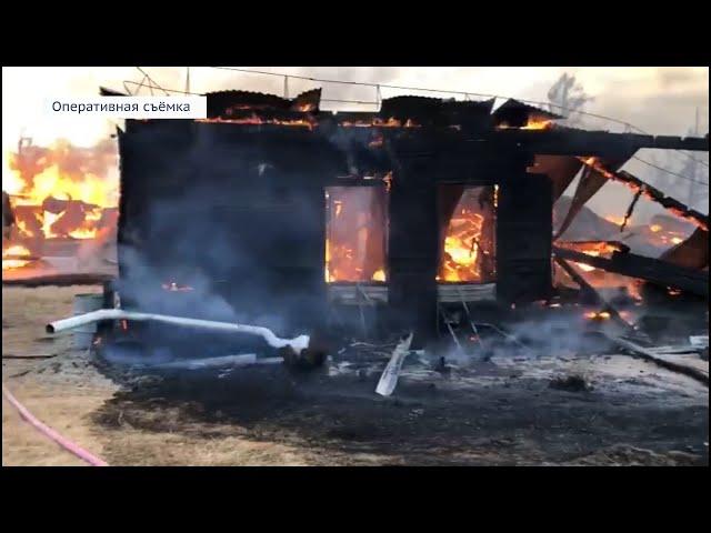 В посёлке Большое Голоустное сгорела школа