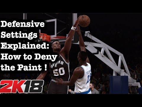 NBA 2K18 How to Defend the Paint Tutorial. 2K18 Defensive Settings Tips. Best 2K18 Defense #60