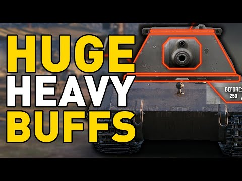E 100, T110E5 and IS-4 HUGE BUFFS in World of Tanks!