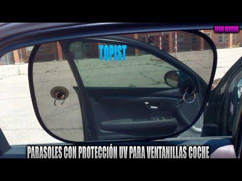 Topist parasoles con protección UV para ventanillas coche 44x36 cm