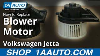 How To Install Replace Heater AC Blower Fan Motor 1999-05 VW Volkswagen Jetta