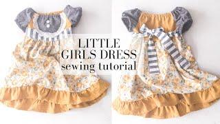 Toddler Dress Pattern | EASY SEWING TUTORIAL
