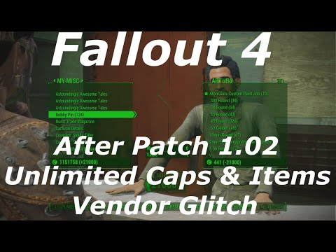 Fallout 4 Free Unlimited Caps & Items Vendor Glitch / Exploit After Patch 1.2! (Fallout 4 Glitches)