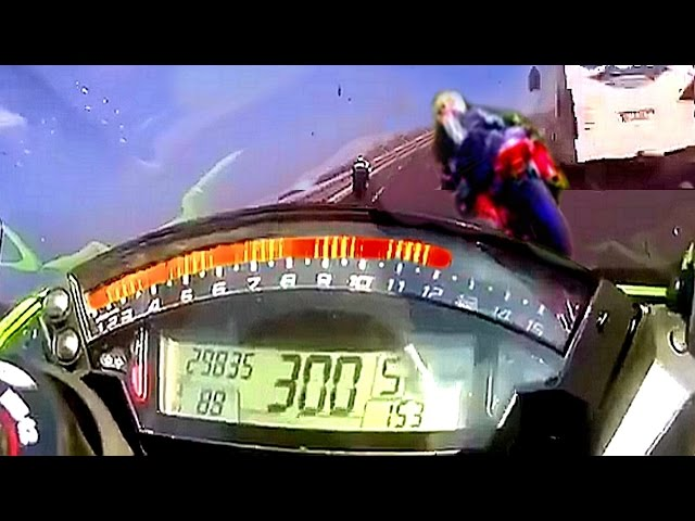 هكذا يبدو حادث دراجة نارية تسير على سرعة 300 كلم