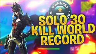 *NEW* CONSOLE FORTNITE WORLD RECORD !! (30 Kill Solo Gameplay)