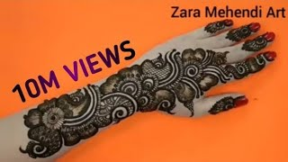 Beautiful Arabic Henna Design| #9 Zara Mehendi Art