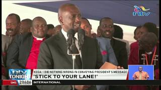 Was DP Ruto really sent by President Uhuru Kenyatta to Nyeri?