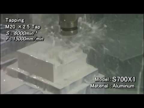 S700X1 high torque Machining example (Aluminium)