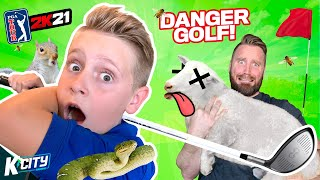 LOOK OUT, SHEEP! (Creating a WILD Golf Course in PGA 2k21!) K-CITY GAMING
