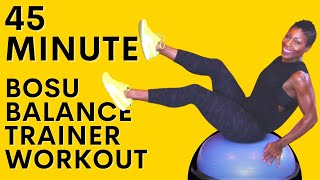 45 Minute BOSU Ball HIIT Workout | Bodyweight | Calorie Burning Workout| Total Body
