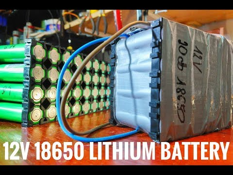 DIY 12v 18650 lithium battery