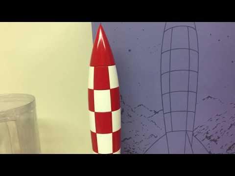 La fusée de Tintin, rouge et blanche - 17cm - Jouet et jeux