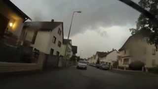 preview picture of video 'Unwetter in Viernheim , Hessen 10.08.2014 @ BIKECAM GoPro Hero 3'