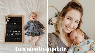 Nova Is 2 Months Old! | Sleeping Through The Night + First Laugh!
