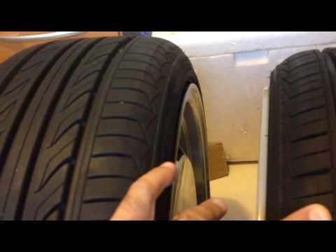 Comparação de pneus  medidas  165/40-17 e 195/40-17