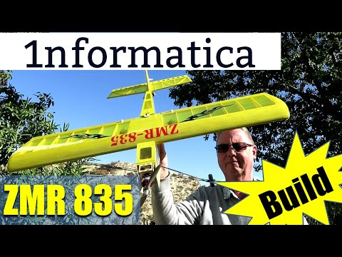 ZMR 835 835mm Wingspan Balsa Ply Wood RC Airplane KIT Build