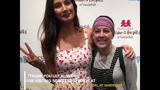 Lily Aldridge Visited Ryan Seacrest Studio