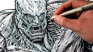 Drawing ATTACK ON TITAN - The Most Detailed Drawing Ever (I Think) of the COLOSSAL TITAN!