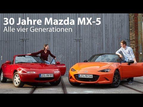 Happy Birthday Mazda MX-5: Wir feiern 30 Jahre Roadster mit allen vier Generationen - Autophorie
