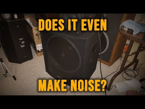 THE CHEAPEST PA SUBWOOFER EVER!? (MCM 55-10325 Review)