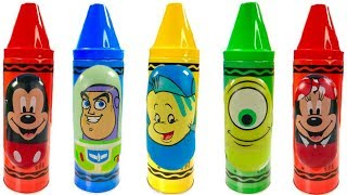 Learn Colors with Mickey Mouse Paw Patrol Disney Crayons | Fizzy Fun Toys
