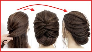 Easy Hairstyle For Long Hair || Latest Bridal Updo Tutorial