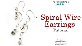 Spiral Wire Earrings - DIY Jewelry Making Tutorial By PotomacBeads