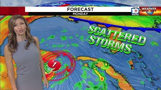 South Florida in a flood watch again; cold front for Halloween?
