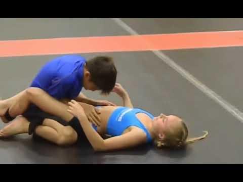Boy and Girl Wrestling Fun Video