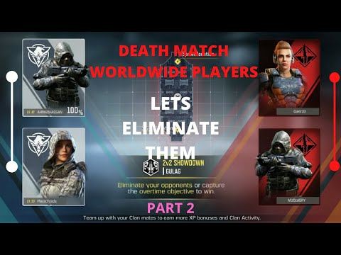 """CALL OF DUTY MOBILE """"GAMEPLAY"""" -DEATHMATCH WITH WORLDWIDE PLAYERS- PART 2- GAMERZ ERA -Ahmad Hassan"""