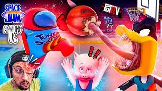 AMONG US is a Space Jam Nostalgia Trip down Looney Toons Memory Lane (FGTeeV Childhood Games Mashup)