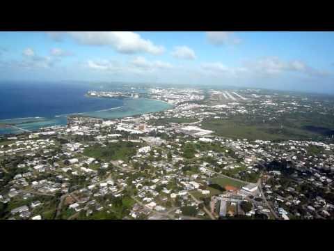 Hagåtña (Agaña), Guam. Visual approach a