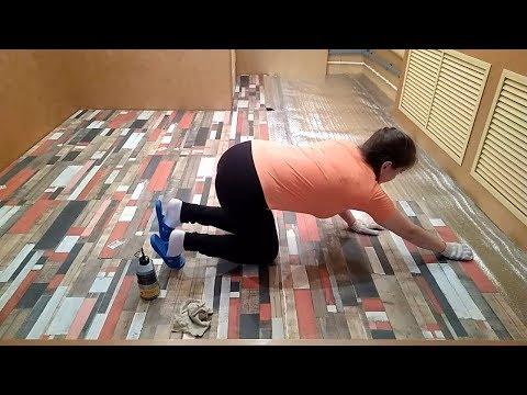 Как девушка делает отделку пола в комнате. Экономный и быстрый вариант отделки пола в квартире