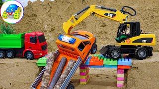 Excavator Dump Truck Car Toy Building Bridge - Kid Studio