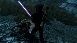 Skyrim Special Edition: Star Wars Lightsabers Mod!!!