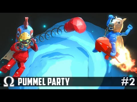 FALLING CARS OBSTACLE COURSE! | Pummel Party Funny Moments #2 Ft. Delirious, Toonz, Squirrel