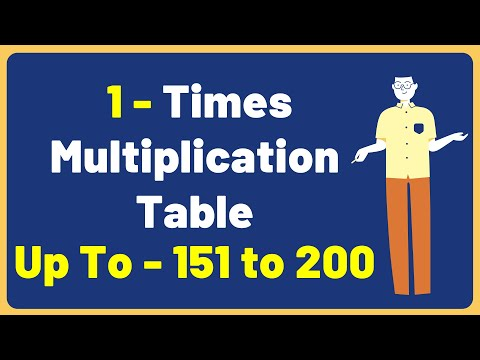 1 Times Multiplication Table up to 151 to 200 | Multiplication Time Table with Audio