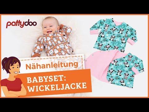 Wickeljacke für Babies nähen - mit Druckknöpfen oder als Wendejacke