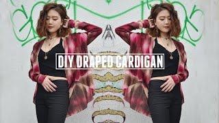 DIY Draped Cardigan